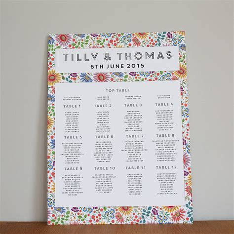 wedding layout seating bright flowers wedding seating plan by lucy says i do