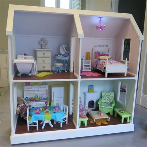 how to build american girl doll house doll house plans for american girl or 18 inch dolls 4 room