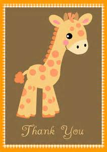 baby shower thank you notes baby giraffe by
