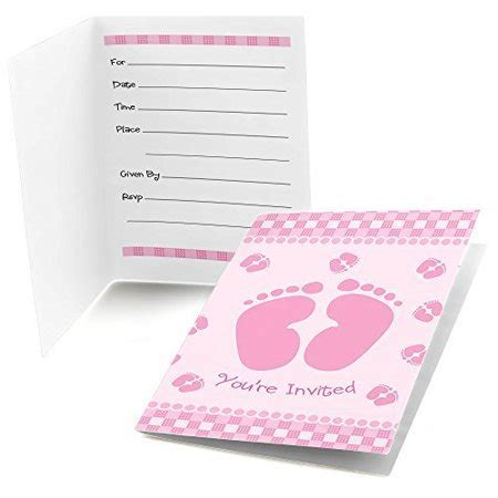 Baby Shower Invitations Walmart by Baby Pink Fill In Baby Shower Invitations 8 Count