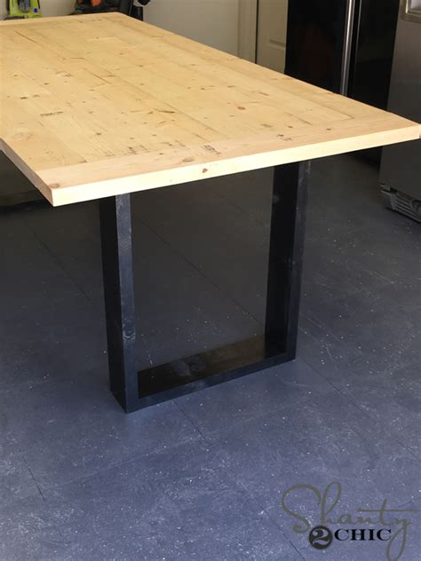Diy Contemporary Dining Table Diy Rustic Modern Dining Table Shanty 2 Chic