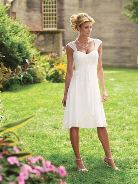 simple tea length wedding dresses cap sleeves tea length chiffon informal simple