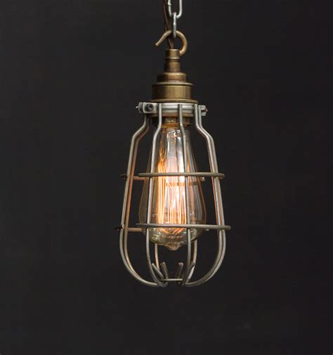 Es Enclosed Cage Industrial Pendant Vintage Lighting Cage Pendant Lighting