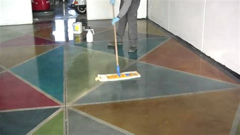how to concrete floors with klindex