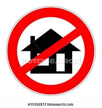 no home clipart
