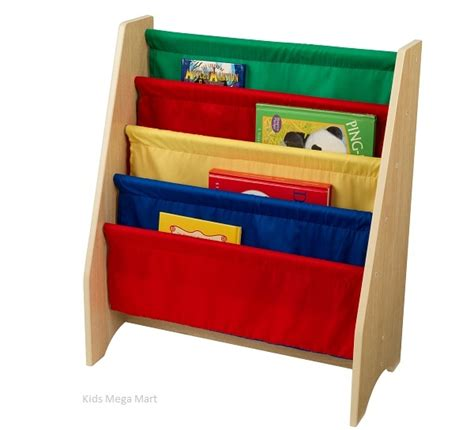 kidkraft sling bookshelf primary 14226