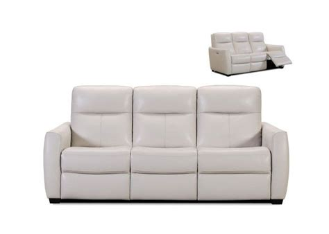 White Reclining Sofa White Leather Reclining Sofa Regarding Home Dfwago
