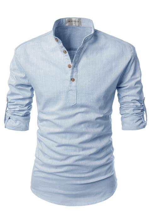 Kaos Polos Henley Lengan Panjang Kh22 gambar kaos biru langit koleksi gambar hd