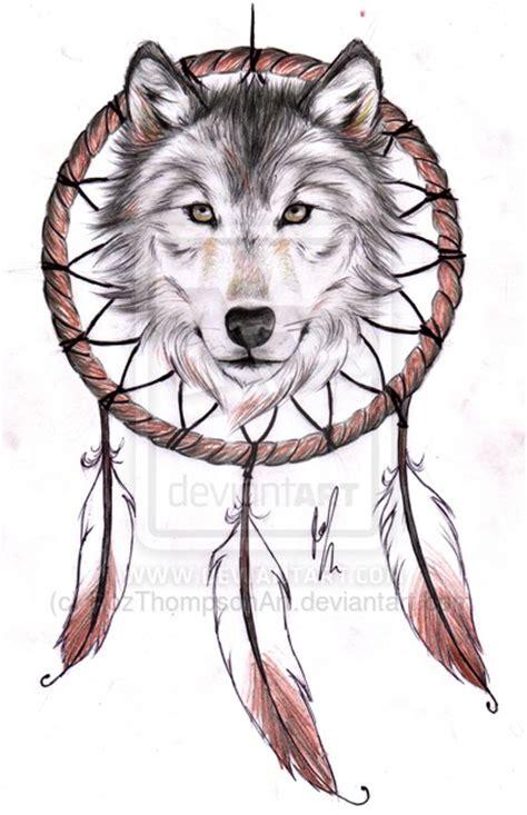 wolf dreamcatcher tattoo designs wolf dreamcatcher