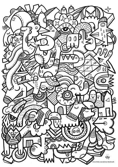hard coloring book pages hard coloring pages hard geometric coloring pages kids