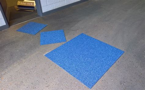 the best way to lay carpet tiles on tackifier adhesive