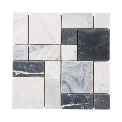 home depot marble tile jeffrey court carrara block 12 in x 12 in x 8 mm marble