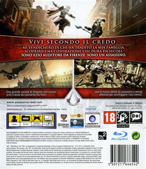 Ps3 Assassins Creed Ii Reg 3 Used Murah assassin s creed ii 2009 playstation 3 box cover