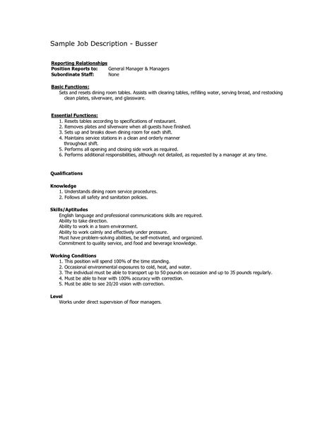 sle resume for waiter position waitress duties resume waitress resume sles sle resume