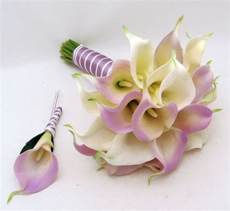 Real Wedding Bouquets by Real Touch Calla Lilies Wedding Real Touch Calla