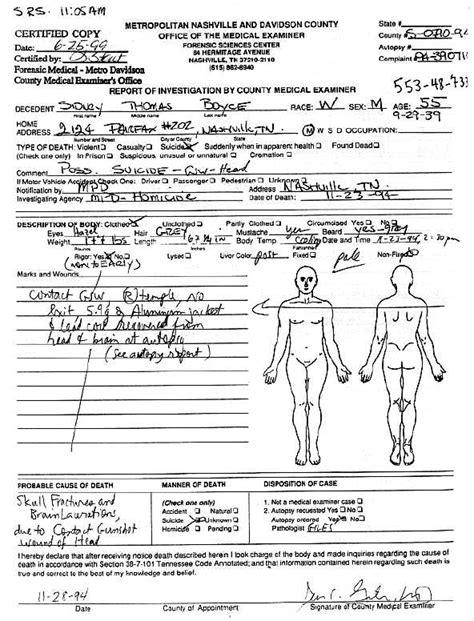 rockmine archive vault autopsy reports tommy boyce