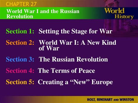 chapter 25 section 3 the war in the pacific chapter 27 wwi slides