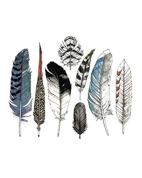 watercolor feather tattoo designs tattly watercolor feathers set tattoos