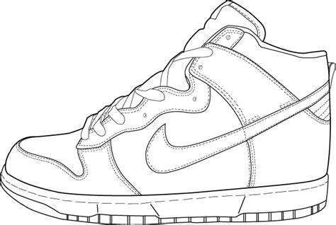 nike shoe template nike dunk hi photo by cedrerock1 photobucket