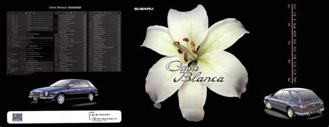 subaru casablanca 1999 subaru casa blanca brochure