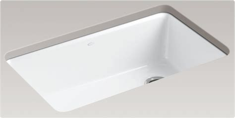 White Undermount Kitchen Sink Kohler K 5871 5ua3 0 Riverby Single Bowl Undermount Kitchen Sink White