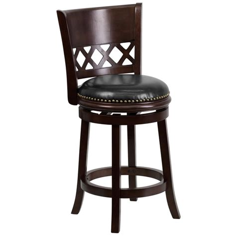 black swivel counter height stools 24 cappuccino wood counter height stool with black