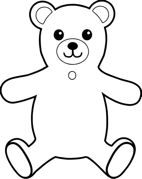 bear hug coloring pages bear front view hug coloring page wecoloringpage