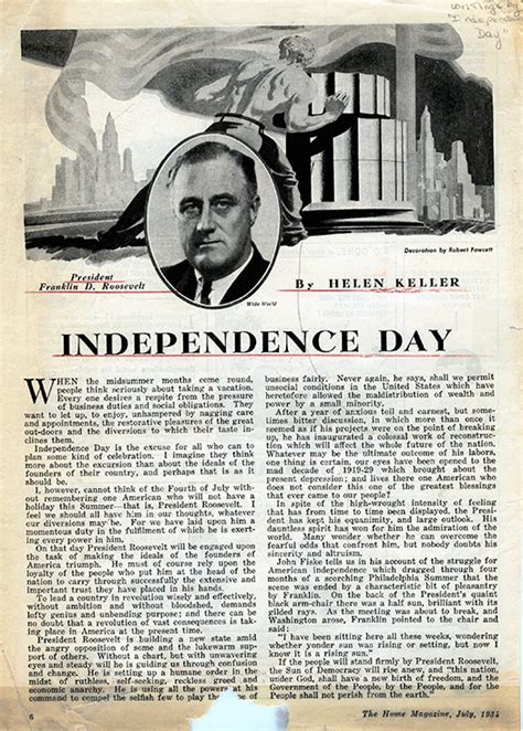 helen keller biography articles thoughts on independence day by helen keller afb blog