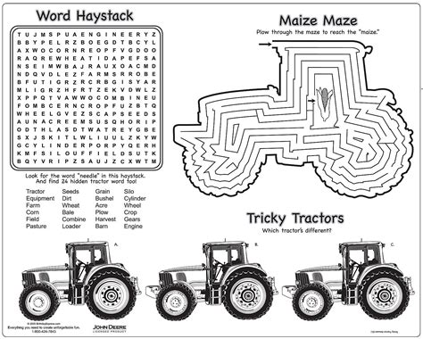 printable tractor mazes john deere logo coloring page linc 1 st bday pinterest
