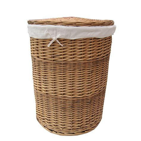 Buy natural round wicker laundry basket online from the basket company