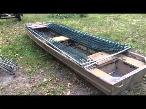 duck boat setup how to build the diy rock solid duck boat blind kit set