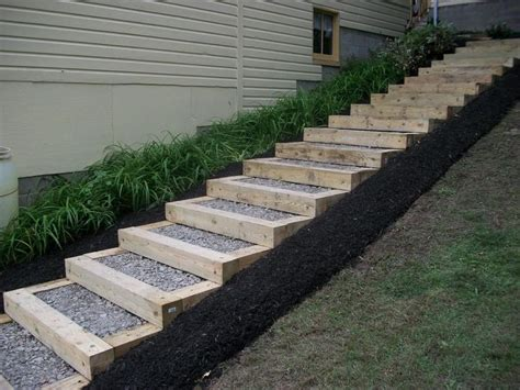 landscaping stairs 26 best images about timber stairs on pinterest