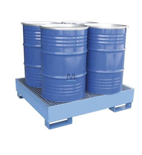 vasca di contenimento vasca di contenimento 4 fusti in acciaio verniciato mito