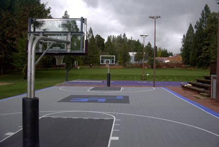 cost of backyard basketball court outdoor basketball court