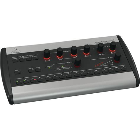 Mixer Audio Behringer 16 Chanel behringer powerplay 16 p16 m 16 channel digital personal p16 m