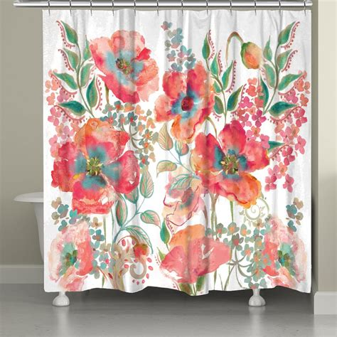 poppies shower curtain bohemian poppies shower curtain laural home
