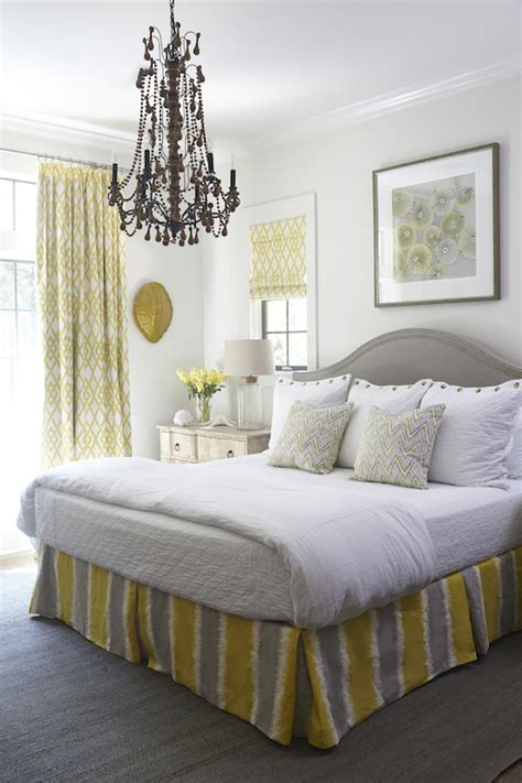yellow  gray bedrooms cottage bedroom tracery interiors