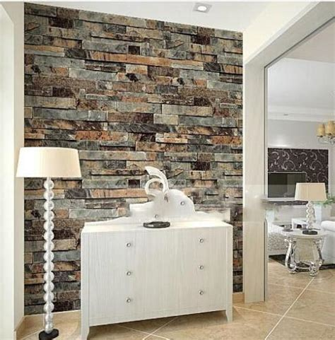 wallpaper for kitchen and bathroom modern 3d stone brick wallpaper dining room kitchen