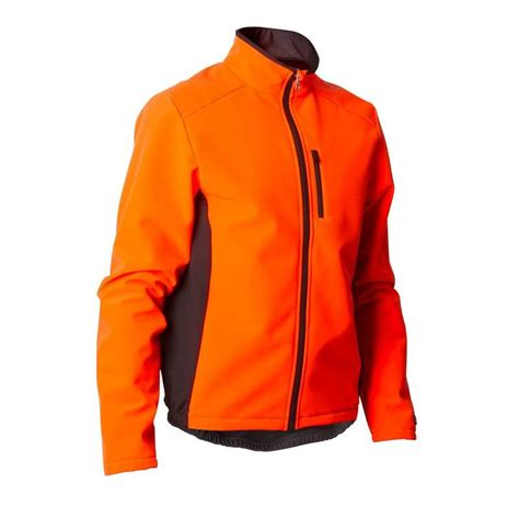 tex winter cycling jacket 100 warm cycling jacket orange decathlon