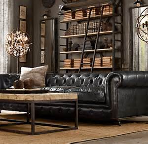 restoration hardware chesterfield sofa 76 quot kensington leather sofa