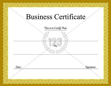 business license template image gallery business certificate