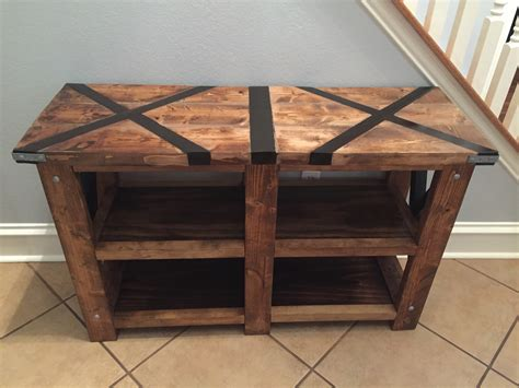 rustic x console table white rustic x console table with x top diy projects