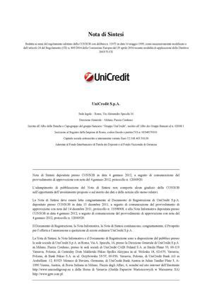 unicredit di roma sede legale calam 233 o prospetto unicredit