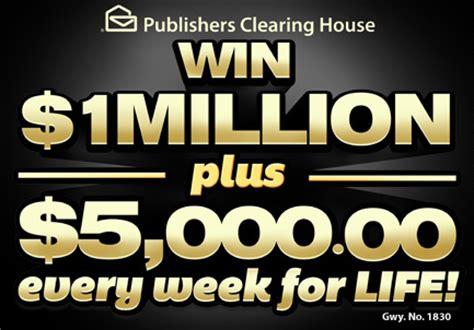 Mega Millions Clearing House Sweepstakes - pch 1 million a year forever sweepstakes share the knownledge