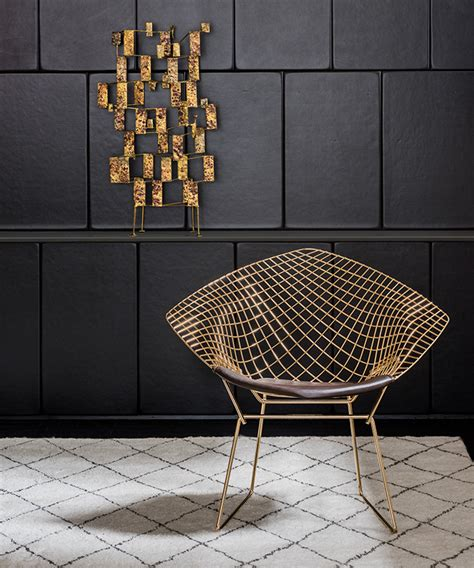 Platner Chair Bertoia Gold Inspiration Knoll
