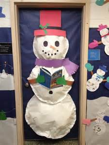 Snowman Door Decoration by 3 Dimensional Snowman Door Decoration Myclassroomideas