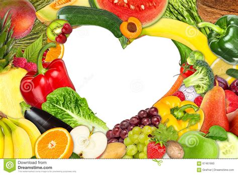 e fruits and vegetables fruit and vegetable shaped frame stock photo image