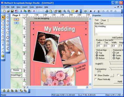 scrapbook layout software free recreation scrapbook design studio shareware belltech