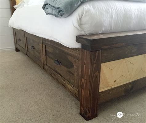 how to build a headboard for bed diy storage beds the budget decorator