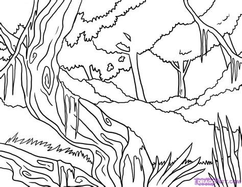 Coloring Pages Of Jungle Scenes | jungle scene coloring pages coloring home